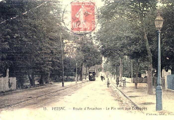 Le tramway route d'Arcachon