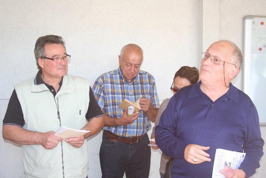 De gauche à droite : Jean-Claude Caron, X, Jacques Clémens