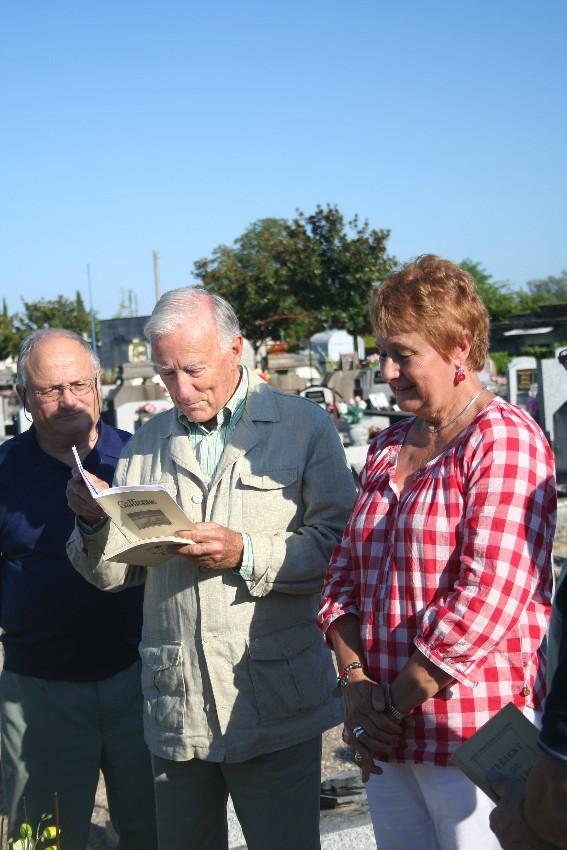 De gauche à droite : Jacques Clémens, M. Samie, Danielle Le Roy
