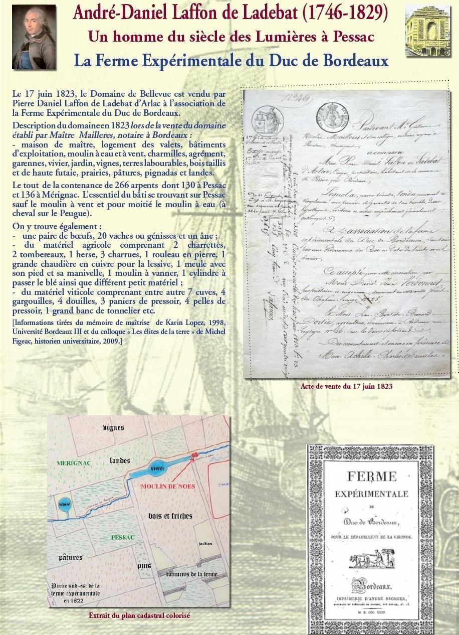 La ferme expérimentale du Duc de Bordeaux : vente et évaluation du domaine de Bellevue