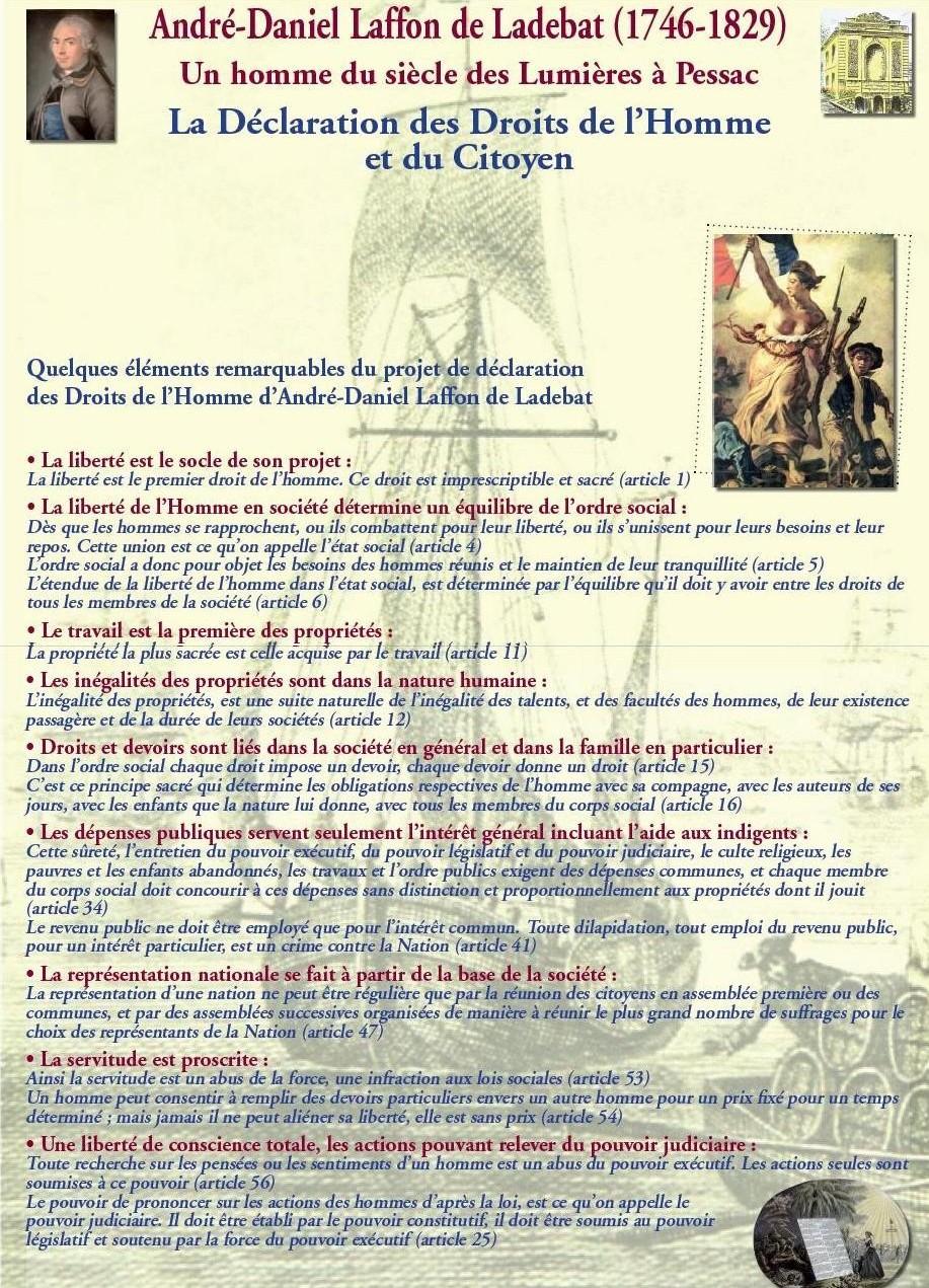 La Déclaration des Droits de l'Homme et du Citoyen : quelques éléments remarquables