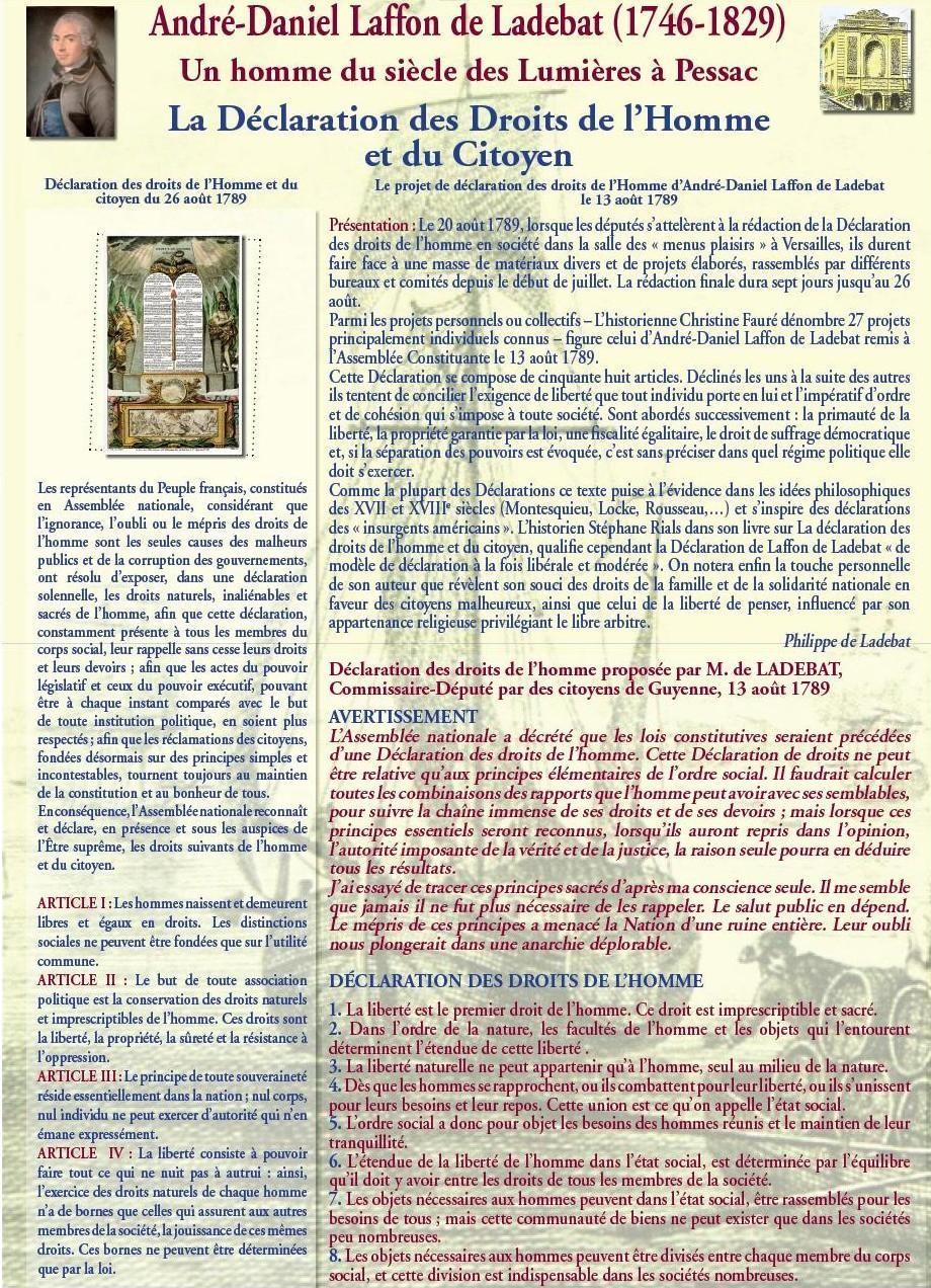 La Déclaration des Droits de l'Homme et du Citoyen : présentation et contenu du projet