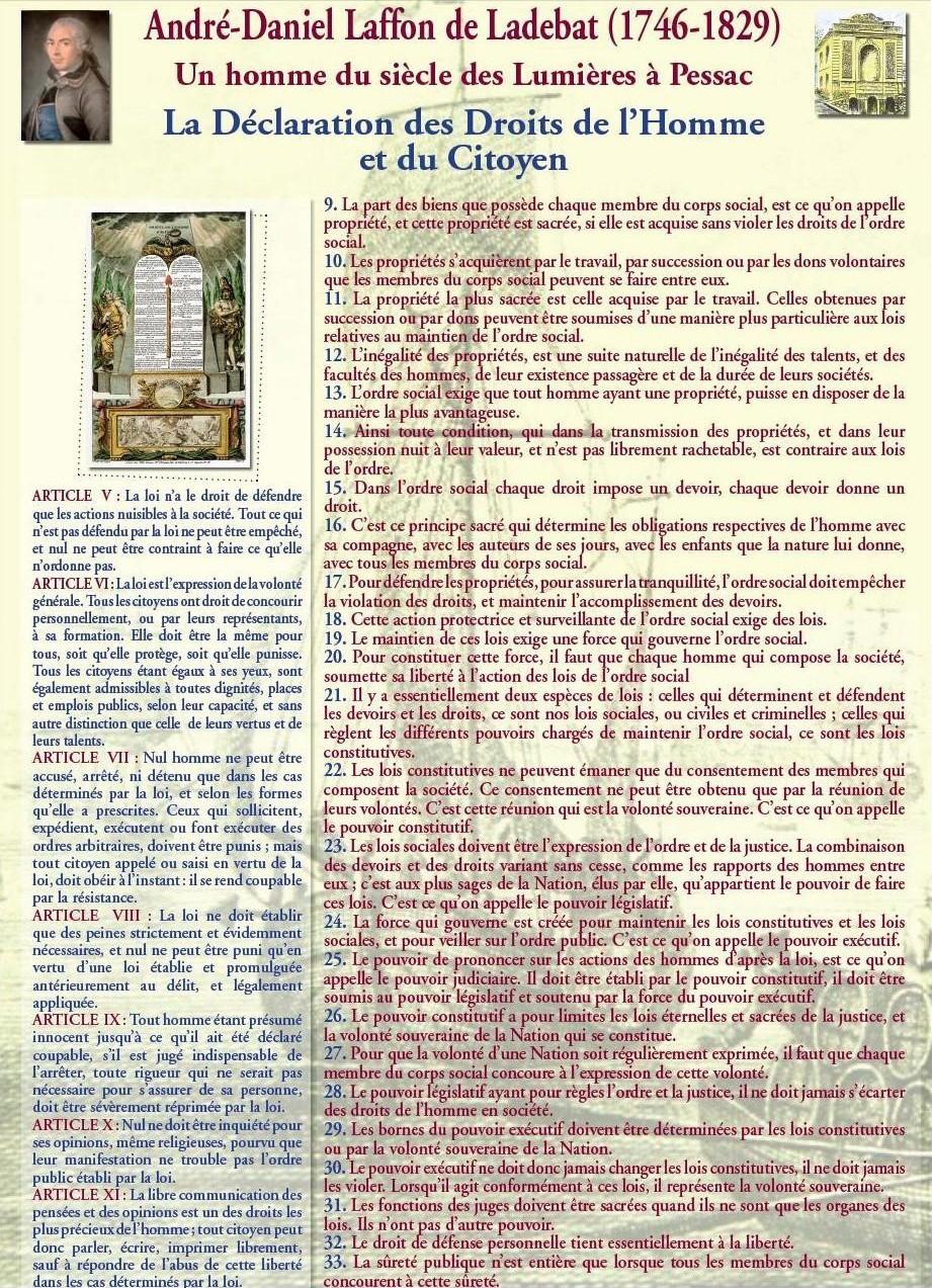 La Déclaration des Droits de l'Homme et du Citoyen : suite