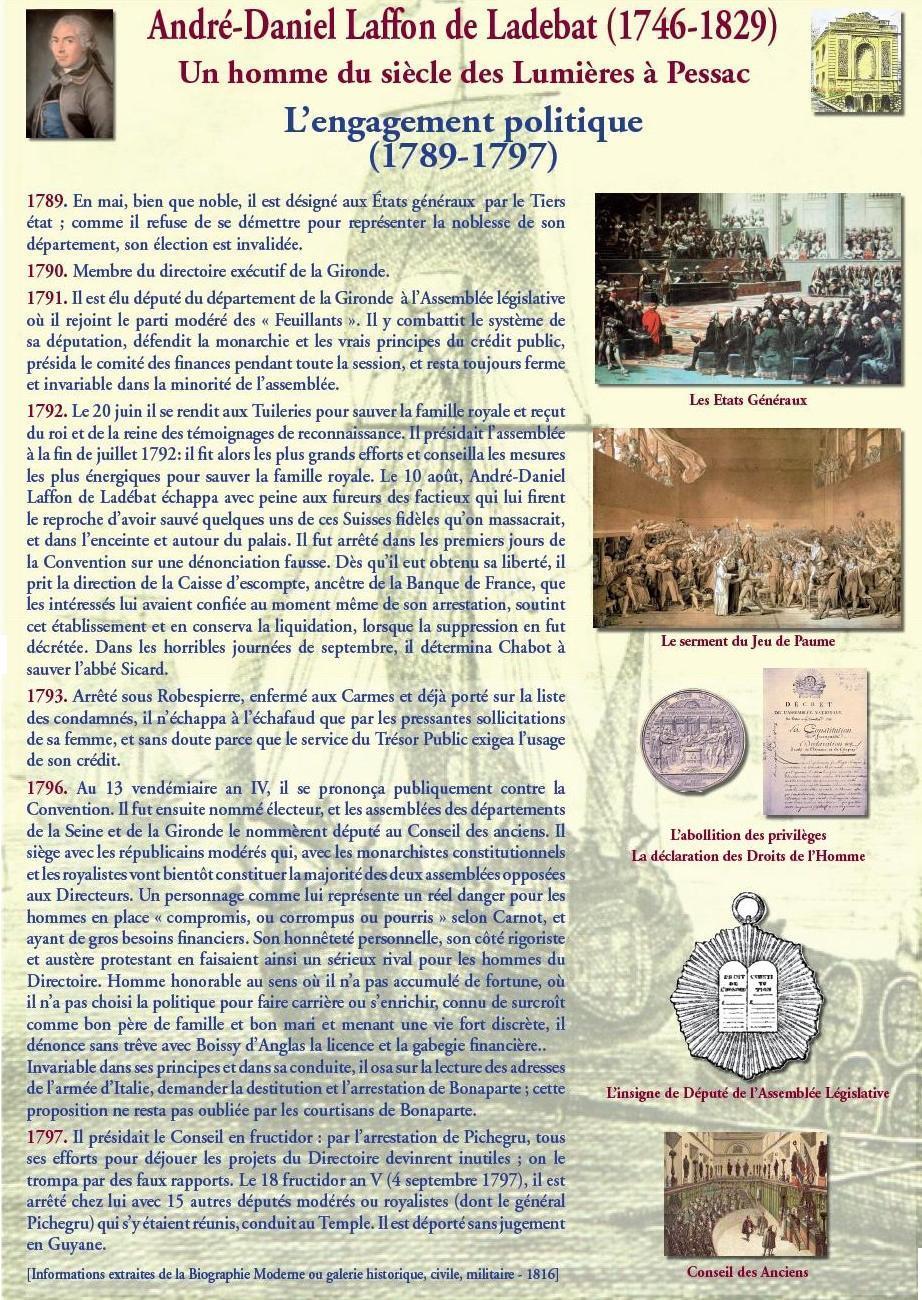 L'engagement politique (1789-1797) : de l'élection à Pessac à la déportation en Guyane