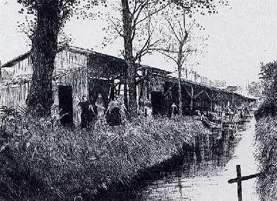 Lavoirs au bord du Peugue entre Pessac et Bordeaux